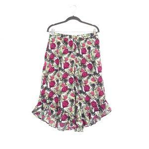 Gilligan & O'Malley Ruffle Pajama Floral Pants S